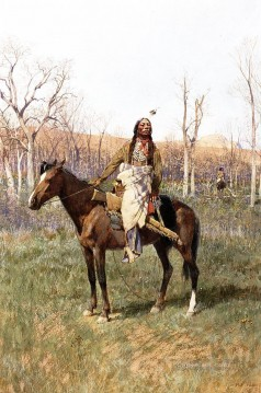 Indiana Cowboy Painting - Crow Scouts west Indian native Americans Henry Farny