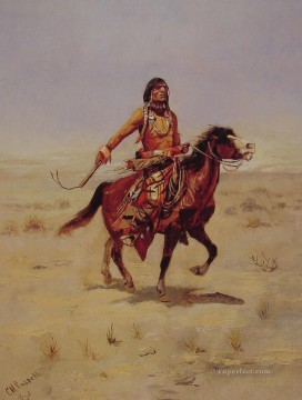 Indian Rider Indians Charles Marion Russell Indiana Oil Paintings