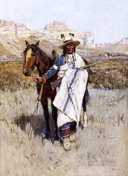 Indiana Cowboy Painting - Indian Scout west native Americans Henry Farny