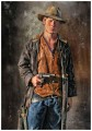 young COWBOY with gun