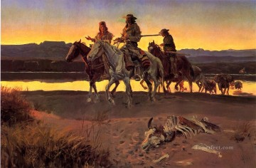 cowboy Art Painting - Carsons Men cowboy Charles Marion Russell Indiana