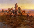 In the Wake of the Buffalo Hunters Indians Charles Marion Russell Indiana