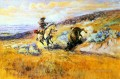 meat for wagons 1925 Charles Marion Russell Indiana cowboy
