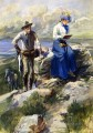 she turned her back on me and went imperturbably on with her sketching 1906 Charles Marion Russell Indiana cowboy