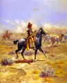 through the alkali 1904 Charles Marion Russell Indiana cowboy