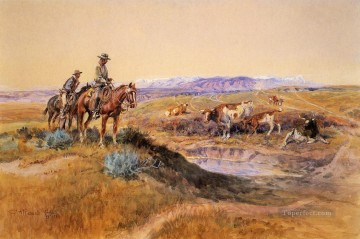Indiana Cowboy Painting - Worked Over cowboy Charles Marion Russell Indiana