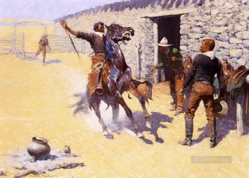 the apaches Frederic Remington Indiana cowboy Oil Paintings