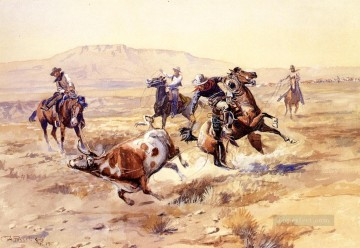The Renegade cowboy Charles Marion Russell Indiana Oil Paintings