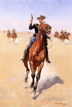 cowboy Painting - the trooper 1892 Frederic Remington Indiana cowboy