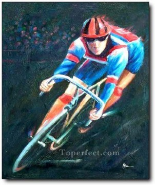 yxr0044 impressionism sport bicycle Oil Paintings