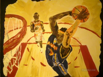 Sport Painting - basketball 07 impressionists