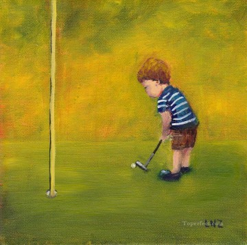 golf oil painting - golf 04 impressionists