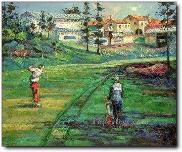 yxr0043 impressionism sport golf Oil Paintings