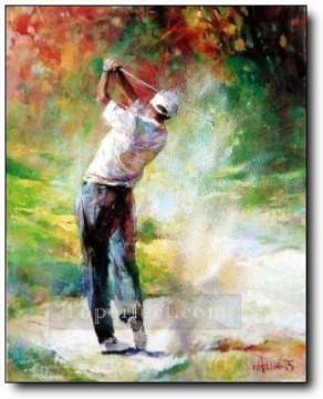 yxr0047 impressionism sport golf Oil Paintings