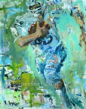 American football 02 impressionists Oil Paintings