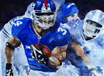 American football 07 impressionists Oil Paintings