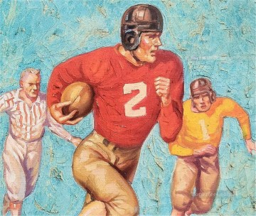 Sport Painting - American football 14 impressionists