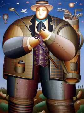 impressionists Oil Painting - Anton Arkhipov Golf impressionists