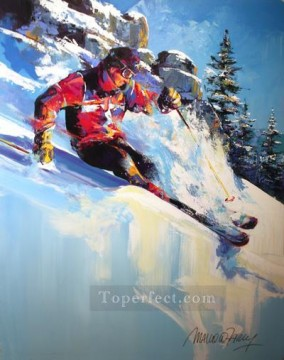 impressionists Oil Painting - Black Diamond sport impressionists