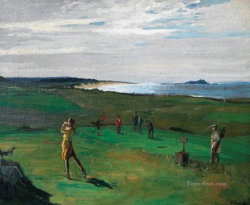 golf Oil Painting - Linkswoman Golf