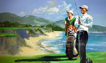 Pebble Beach sport impressionist Oil Paintings