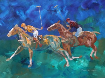 Polo Duet impressionist Oil Paintings