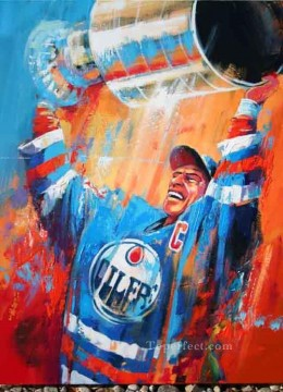 Stanley Cup sport impressionist Oil Paintings