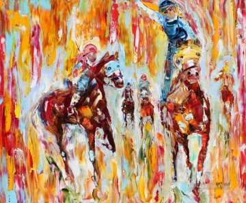 The Race impressionist Oil Paintings