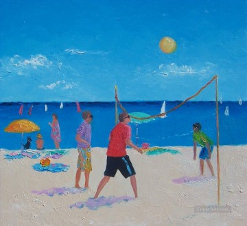 Volleyball beach impressionist Oil Paintings
