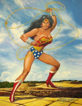 Wonder Woman impressionist Oil Paintings