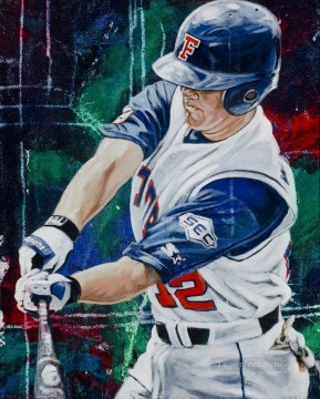 impressionists Oil Painting - baseball 08 impressionists