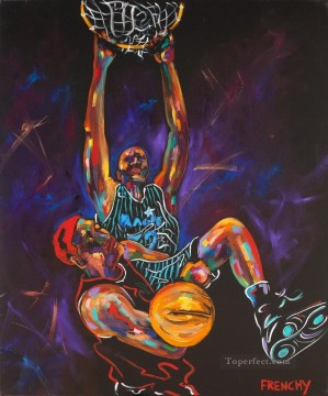 impressionists Oil Painting - basketball 06 impressionists