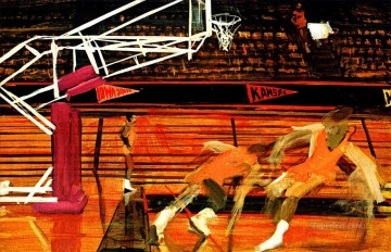 impressionists Oil Painting - basketball 21 impressionists