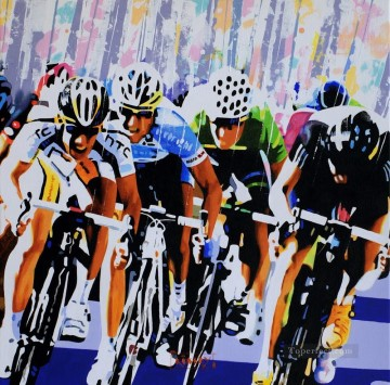 Sport Painting - bicycle impressionists