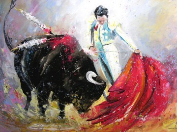 Sport Painting - bull fight impressionists