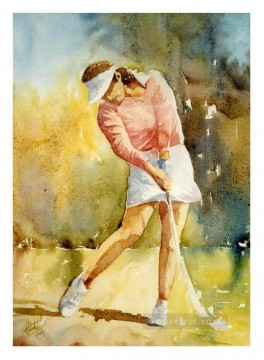 golf 01 impressionist Oil Paintings