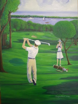 golf 02 impressionist Oil Paintings