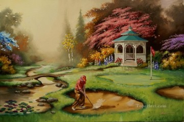 golf oil painting - golf 03 impressionist