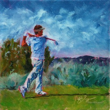 golf Oil Painting - golf 11 impressionist