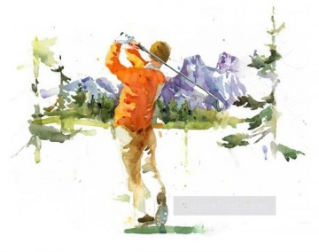golf oil painting - golf 12 impressionist