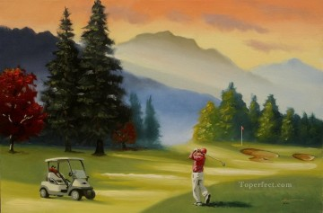 golf Oil Painting - golf course 06 impressionist