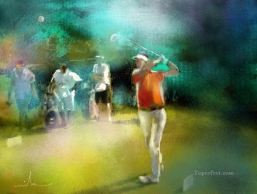 Sport Painting - golf course 07 impressionist