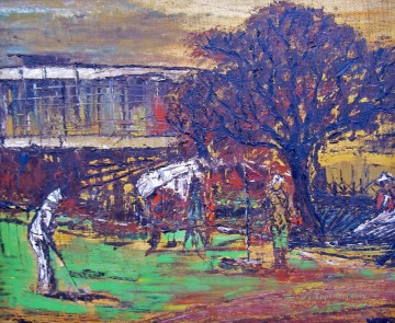 Sport Painting - golf thick paints impressionist