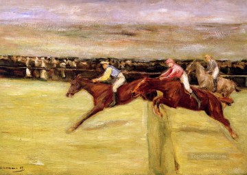 horse races Max Liebermann German Impressionism sport Oil Paintings