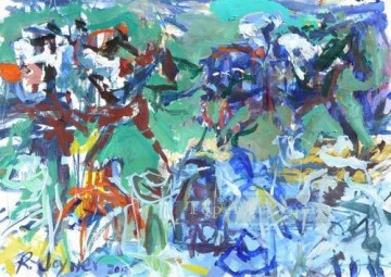 horse racing races sport Painting - horse racing 02 impressionist