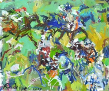horse racing races sport Painting - horse racing 04 impressionist