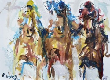 horse racing races sport Painting - horse racing 07 impressionist