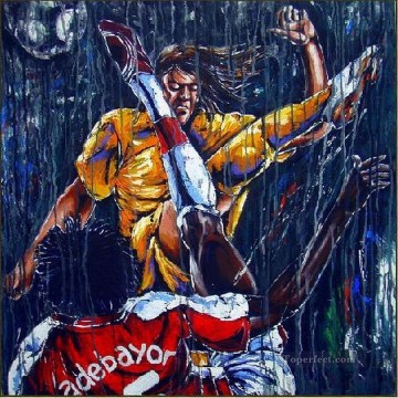 rain of kicks vitaliy shcherbak impressionist Oil Paintings