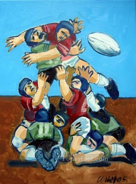 rugby impressionist Oil Paintings
