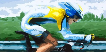 sport Contador impressionist Oil Paintings